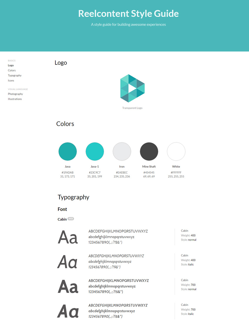 Reelcontent Branding Style Guide