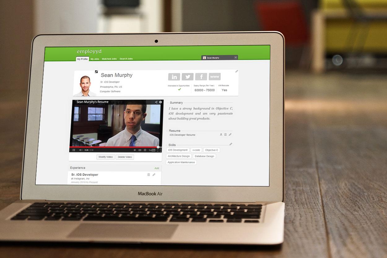employyd responsive web app